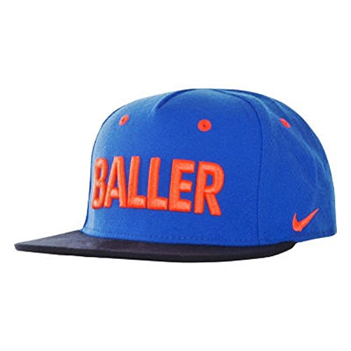 Nike Youth's Dri-Fit BALLER, Statement Snap-Back Hat Game Royal/Crimson 8A2648-U89 One-Size Game Structure Hat