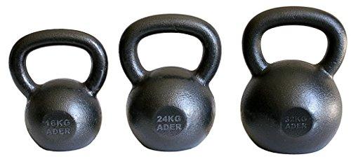 Ader Premier Kettlebell Set- (16, 24, 32kg) w/ FREE DVD