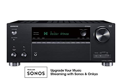 Onkyo TX-RZ630 9.2 Channel 4K Network A/V Receiver Black (Best 9.1 Av Receiver)