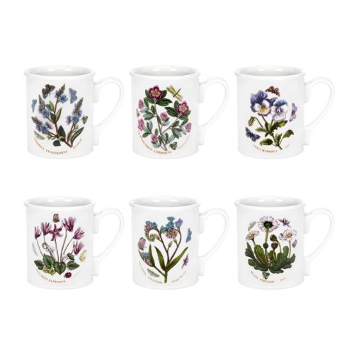 Botanic Garden Breakfast Mug - Portmeirion Botanic Garden - Breakfast Mug - Set Of 6