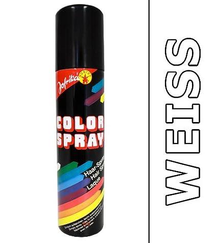 Spray cheveux couleur blanc