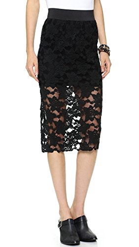 Free-People-Womens-Lace-Pencil-Skirt-Black-LG-Womens-12