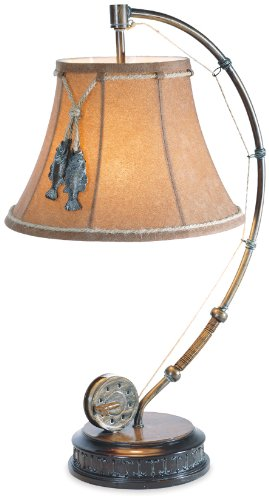 The Catch of The Day Fishing Reel Table Lamp with Decorative Shade