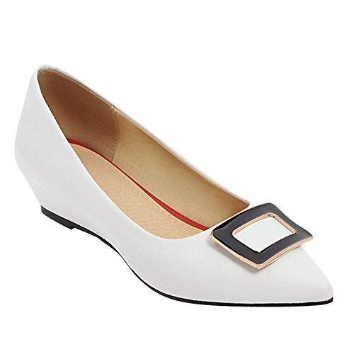MissSaSa Femmes Escarpins Fermeture à Enfiler Bout Pointu Chaussures Ville  blanc talons 3cm oxxph 55007550c290