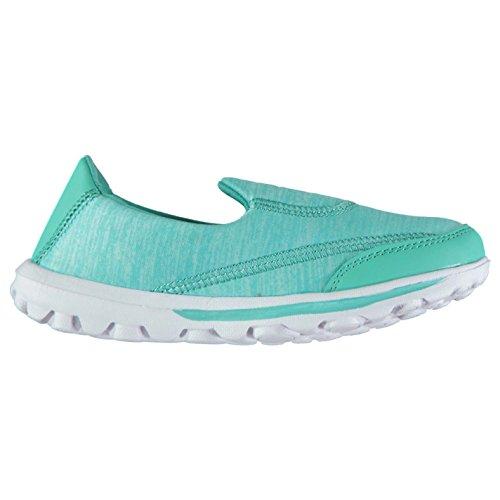 Full Circle Mujer Ponerse Zapatillas Zapatos Calzado Deporte Entrenar Señoras Azul 4 (37)