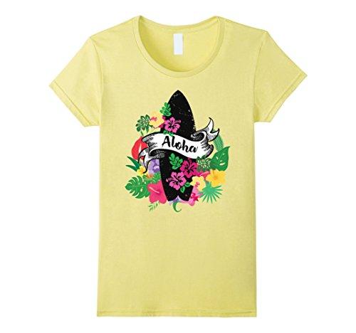Surfboards Hawaiian Shirt (Womens Aloha Surfboard Hawaiian Shirt Large Lemon)