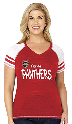 - Soft As A Grape NHL Florida Panthers Women's Multi Count Curvy Triblend Short Sleeve V-Neck Tee with Stripes, 2X, Red