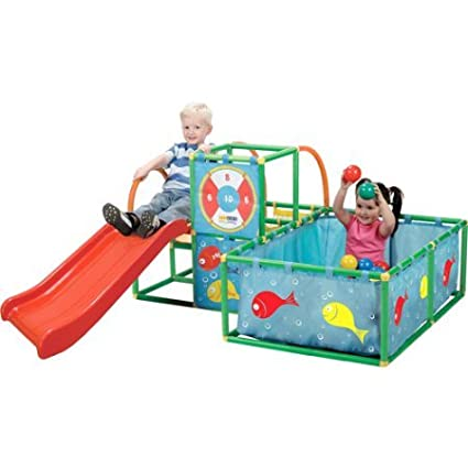 Durable Interlocking Connectors Toy Monster Active Play 3 In 1 Gym Set