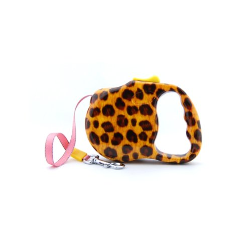 - Bellus 10FT Retractable Dog Leash, Animal Print Great For Small Dogs Up To 30lbs