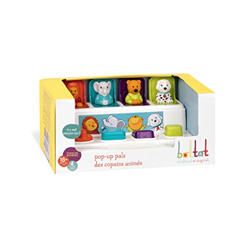 41vD8n0UxXL - Battat Pop Up Pals Cause and Effect Learning Toy for Babies