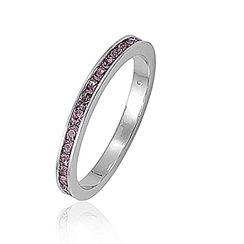 Bling Jewelry 925 Silver Simulated Alexandrite CZ Birthstone Eternity Ring