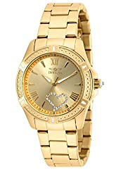 Invicta 20322 Angel Gold Quartz Gold Stainless Steel Watch