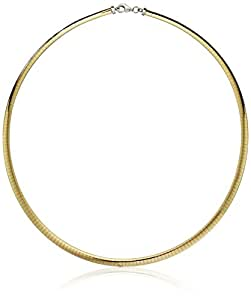Gold Over Silver 4.2mm Reversible Omega Chain Necklace