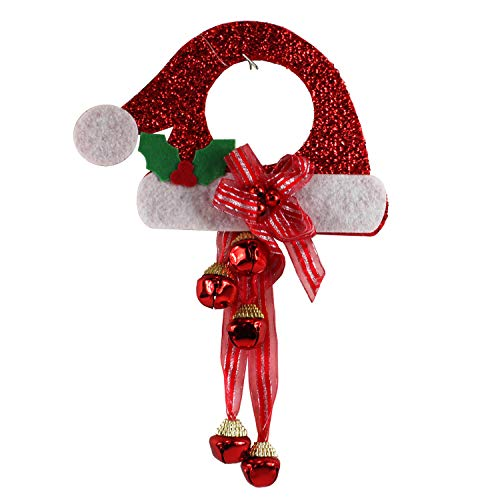 Happy Home Gifts Santa Hat with Bells Door Knob Hanger