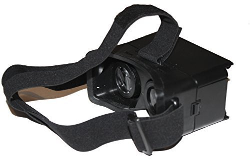 iNextStation Colorcross Cardboard Head Mount Plastic Version Universal Virtual Reality 3D and Video Glasses for 3.5~6 inch Smartphones