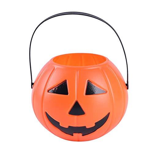 Vipeco 3D DIY Halloween Pumpkin Bucket Children Pumpkin Candy Pail Holder (Large)