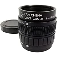 TOOGOO(R) Television TV Lens/CCTV Lens for C Mount Camera 35mm F1.7 in Black
