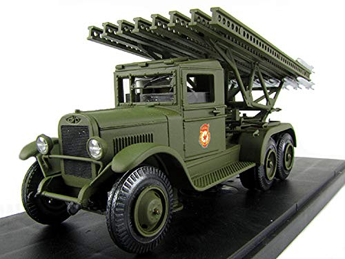 - ZiS-6 BM-13 Katyusha (ЗиС-6 БМ-13 Катюша) 1943 Year Soviet Army Cargo Truck 1/43 Collectible Model Vehicle Multiple Rocket Launcher by Voronezh Plant of Comintern
