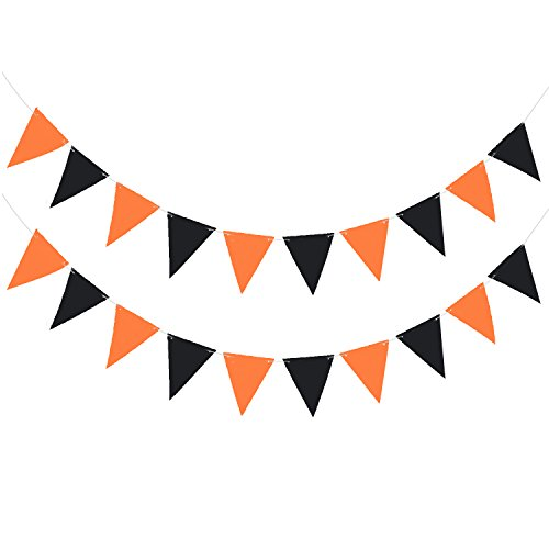 Halloween Pennants Banners, JmYo Durable and Reusable with 20pcs Pennants Flags Party Decoration, 20ft]()