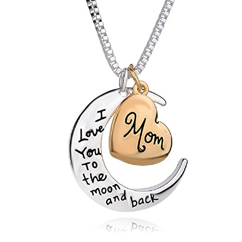 I Love You To The Moon And Back Pendants Necklace Love My Mom Necklaces Best Gifts For Mothers Day