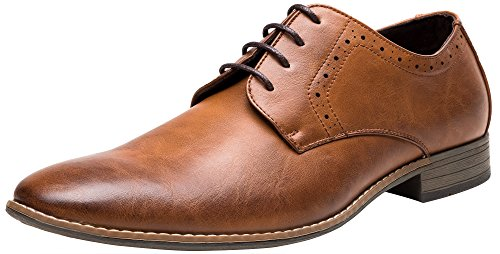 SHENBO Men's Classic Modern Oxford Lace Dress Shoes