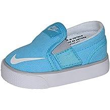 Nike Toddler Toki Slip-On Canvas Sneakers, Black/White