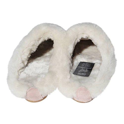 Lammfell Hausschuhe - BIEKAMP ROSA Damen Pantoffeln