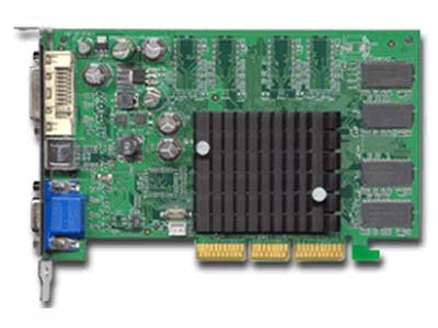 EVGA 064-A8-N302-T4 Nvidia GeForce FX 5200 64MB DDR SDRAM AGP 8x DVI Tv Out Graphics Card ()