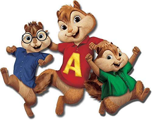 Alvin and The Chipmunks Simon Theodore Jumping Edible Cake Topper Image ABPID08032 - 1/4 sheet -