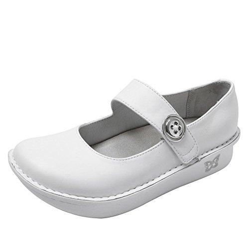 eastbay sale online Alegria Women's Paloma Flat White Nappa genuine cheap online buy cheap in China 0aQdAfXn8