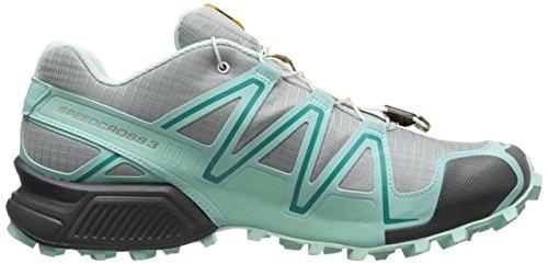 Salomon Women's Speedcross 3 Trail Running Shoe, Light Onix/Topaz Blue/Dark Cloud, 9.5 M US