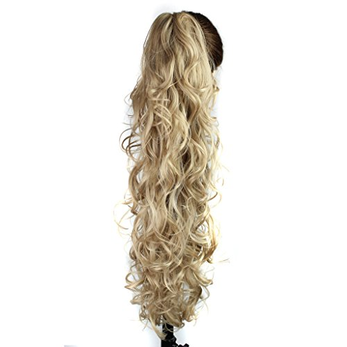 "25"" 220g Prime Claw Curly Wave Synthetic Ponytail Heat Resis"