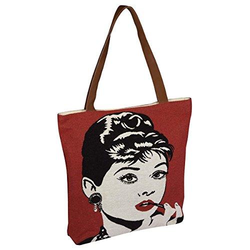 Pad Bag Tasche Einkaufstasche Shopping Bag FAME 45*45cm rot