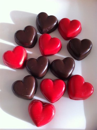Chocolate Covered Oreo Cookies - Shaped Hearts ()