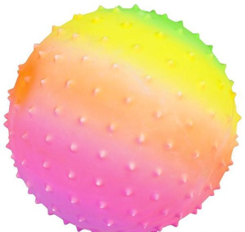 5'' RAINBOW KNOBBY BALL, Case of 3 by DollarItemDirect