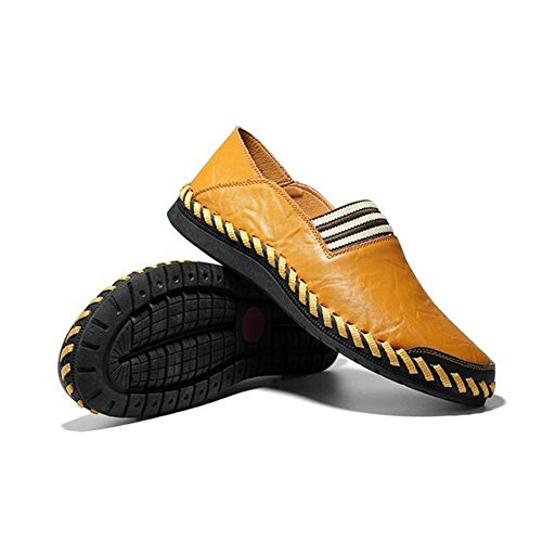 ONS Shoes Yellow for Comfort Men's Fall Split Driving Shoes Joint Casual Fashion Slip Summer Spring amp; HUAN Office Shoes Shoes Walking Casual Loafers 46qwB5