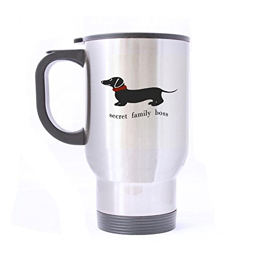 secret family boss Design Stainless Steel Mug Coffee Mug Milk Mug Travel Mug Nice Gift (14Oz) twin sides print