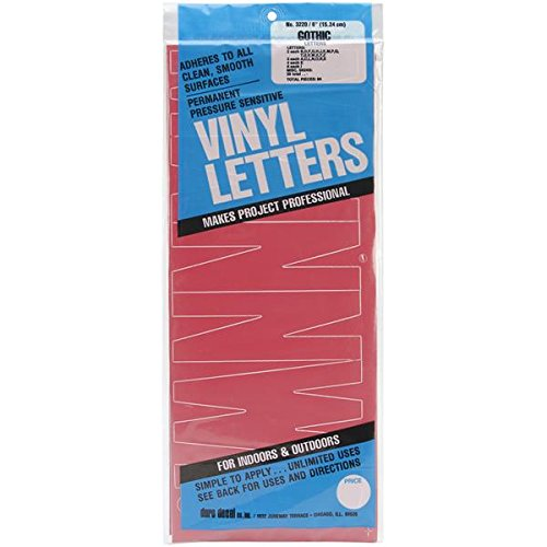 Duro Permanent Adhesive Vinyl Letters, 6-Inch, - Letter Car