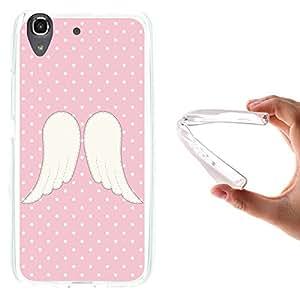 WoowCase - Funda Gel Flexible { Huawei Y6 - Honor 4A } Alas de Angel Carcasa Case Silicona TPU Suave