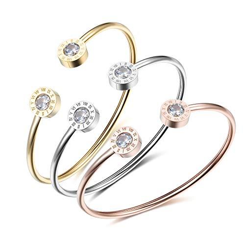 OPALSTOCK Forever Love Bangle Bracelets Cuff Bracelet Adjustable Bracelet Valentines Day Jewelry for Women (Silver)