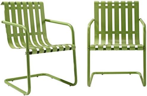 Crosley Furniture Gracie Retro Metal Outdoor Spring Chair - Oasis