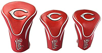 Team Golf MLB Contour Golf Club Headcovers (3 Count), Numbered 1, 3, & X, Fits Oversized Drivers, Utility, Rescue & Fairway Clubs, Velour lined for Extra Club Protection from Team Golf