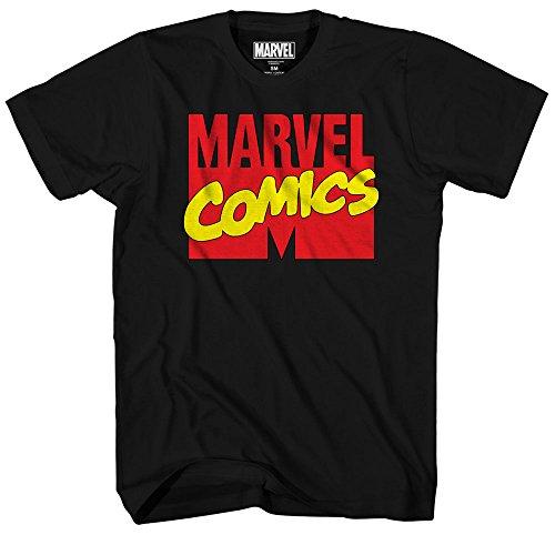 Marvel Comics Logo Avengers X-Men Superhero Super Hero Man Adult Mens Graphic Tee T-shirt (Medium)