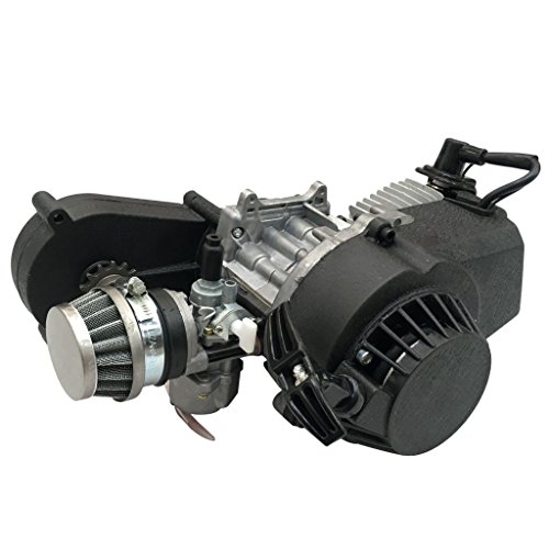 ZXTDR 2 Stroke Engine Motor With Gear Box for 47cc 49cc 50cc Mini Pocket Bike Gas G-Scooter ATV Quad Bicycle Dirt Pit Bikes (Motor Bike 50cc Dirt)