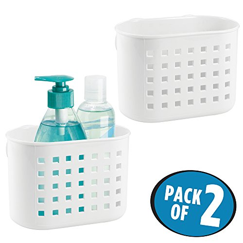 mDesign Suction Bathroom Baskets Conditioner