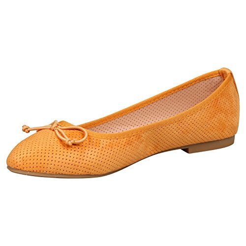 Feet First Fashion Womens Flat Dolly Shoes Ballerinas Ladies Ballet Pumps Bow Size New Yellow Faux Suede GSitPbqd