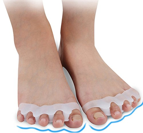 Gel Toe Separators, Elamor Toe Stretchers and Toe Straightener for Bunion Relief, Hammer Toe, Toe Spacers for Men and Women