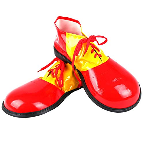 Zoylink Christmas Clown Shoes Large Fancy Costume Shoes Clown Costume Supply for Adults