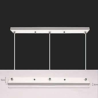 LukLoy Ceiling Plate Mounting Kit Accessory for 3 Pendant Lamp Light Black, 110cm x 5cm Long Linear Ceiling Mounted Plate Canopy