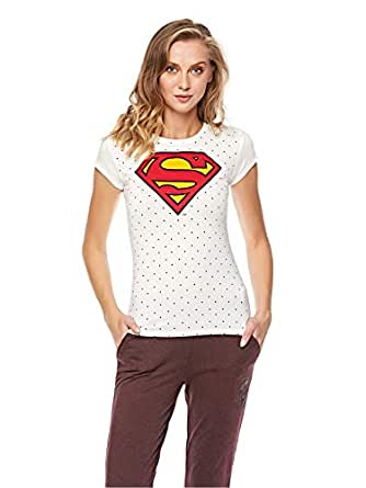 Splash Wcharacter Graphic Print T-Shirt for Women - Cream
